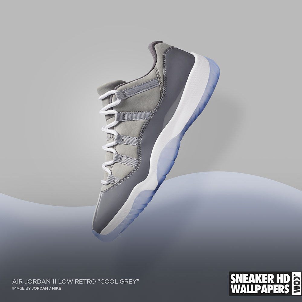 "7c7e03df8bc Air Jordan 11 Low Retro ""Cool Grey"" wallpaper! jordan 11 wallpaper. """